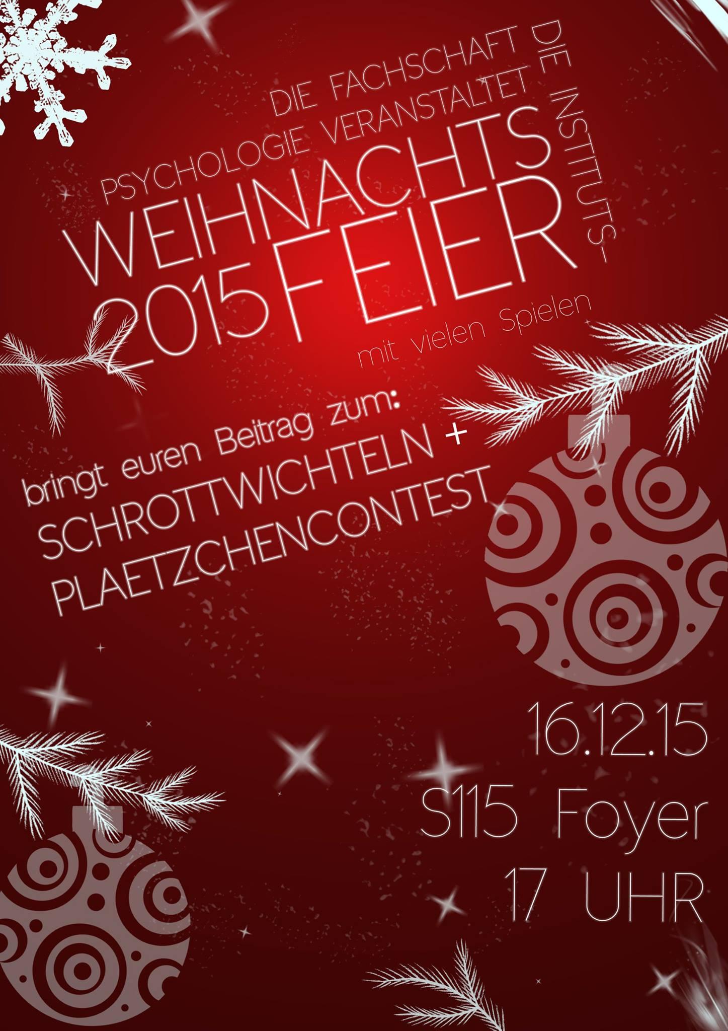 Instituts-Weihnachtsfeier 2015
