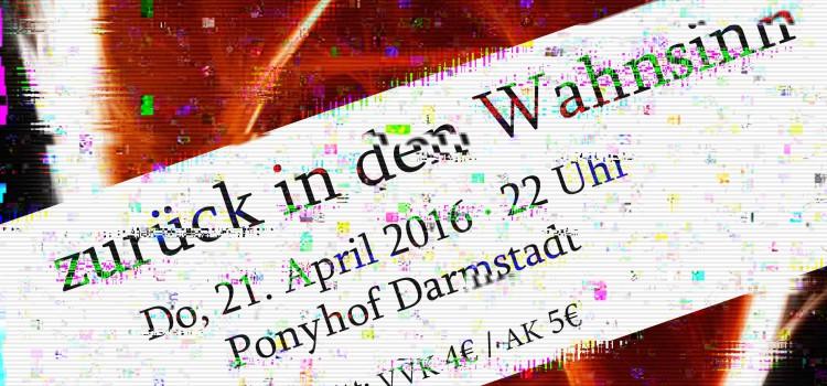 Psycho-Party am 21. April 2016 – Sichert euch jetzt schon im VVK die Karten!